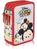 Disney Tsum Tsum 2700-165 Trousse 3 Compartiments 44 pièces, Mickey, Minnie, Elsa, Stich