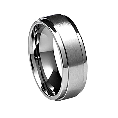Bridal & Wedding Party Jewelry Stainless Steel Chain/black Plated Brushed 10mm Wedding Ring Band Size 12.50 Buy One Get One Free Jewelry & Watches