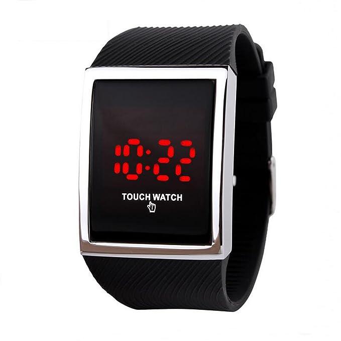 Touch Deporte Niños Muñeca Relojes Digitales LED Tecnología para Niños  Niñas Azul para Hombre ff2df02c3666