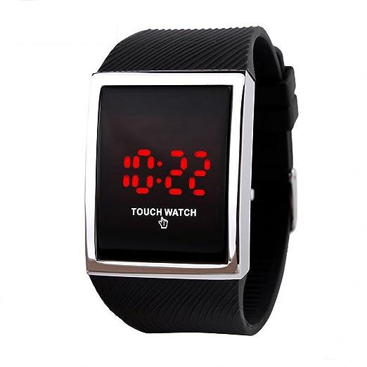 Touch Relojes Niños Tecnología Digital LED Reloj de Deporte para Niños Niñas Negro, 10 + Años de Edad Los Niños Adolescentes: Amazon.es: Relojes