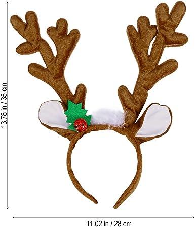 ROCKET THE REINDEER ANTLERS CHRISTMAS HEADBAND XMAS ALICE BAND HAIRBAND NOVELTY