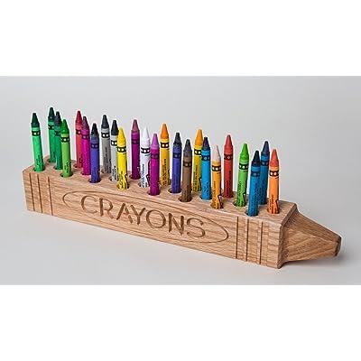 Cray Display 24 Crayon Holder Display, Natural Finish: Toys & Games