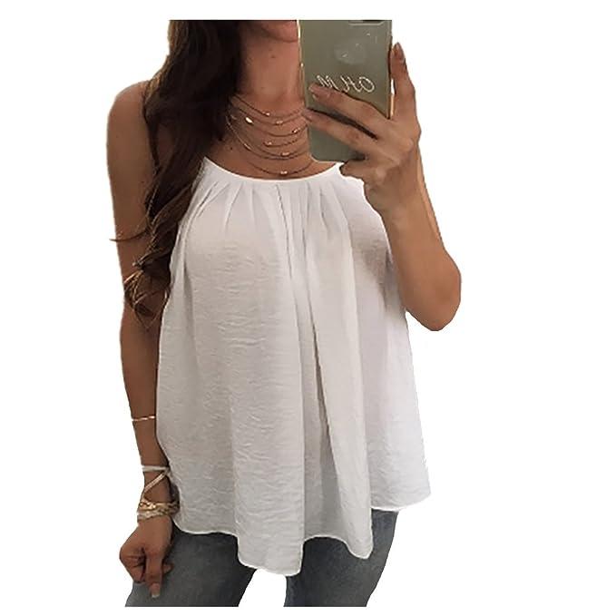 Fanessy Camisas - Animal Print - para Mujer Blanco Small