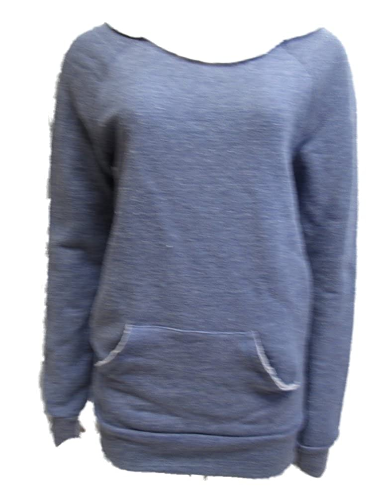 Alternative Earth APPAREL Womens Pull Over Sweater Eco Cobalt Blue XL