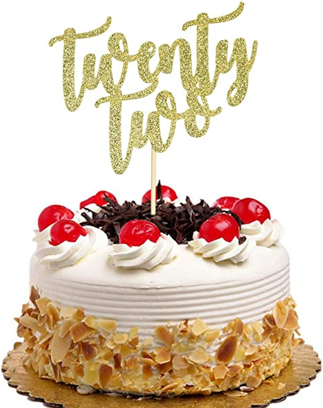Pleasing Amazon Com Twenty Two Cake Topper For 22Nd Anniversary Wedding Personalised Birthday Cards Sponlily Jamesorg