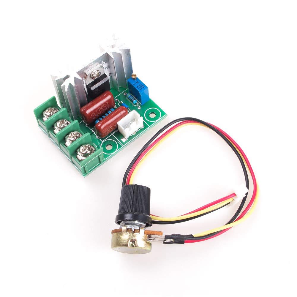ANGEEK 2000W AC 50-220V 25A R/égulateur de vitesse de rotation SCR Dimmen Variateur Thermostat