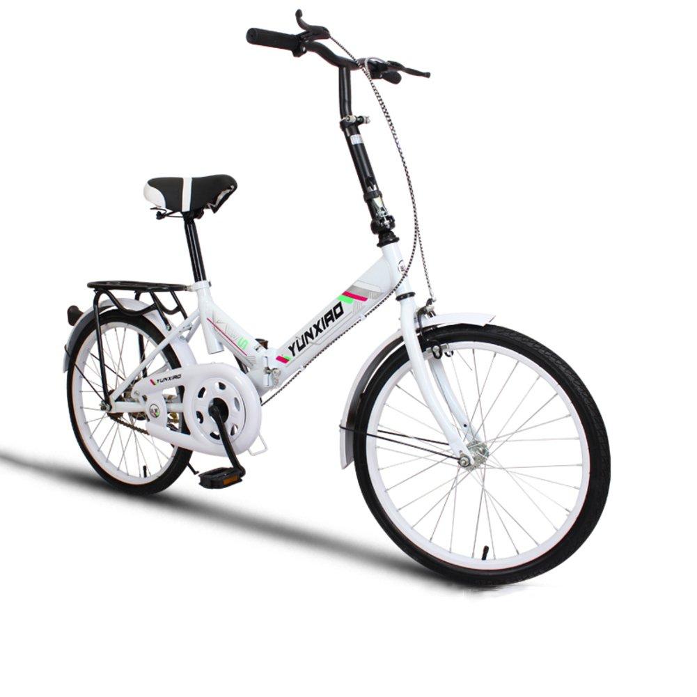 学生折りたたみ自転車, 折りたたみ自転車 女性のサイクリング 超軽量 ポータブル ミニ 男性 折り畳み自転車 B07DFKJD38 20inch ホワイトA ホワイトA 20inch