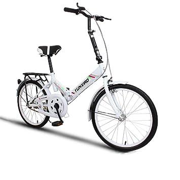 YEARLY Bicicleta plegable estudiante, Bicicleta plegable Ciclo de la mujer Ultra ligh Portátil Mini Masculino