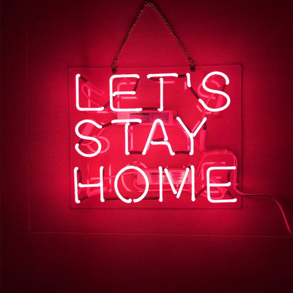 LiQi /™ It is What it isReal Glass Handmade Neon Wall Signs for Home Decor Wall Light Room Decor Home Bedroom Girls Pub Hotel Beach Cocktail Recreational Game Room (19 x 5)