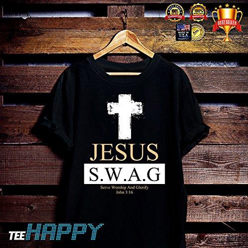 Jesus Serve Worship And Glorify Shirt (Adult Black John Apparel Tee)