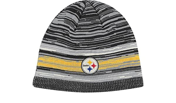 3e83988bf Amazon.com   Pittsburgh Steelers Reebok Classics Vintage Heathered Cuffless  Knit Hat   Sports Fan Beanies   Sports   Outdoors