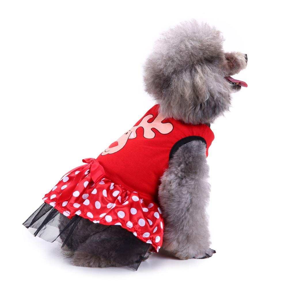 Ropa para Mascotas,Dragon868 Mascota Perro Tela Vacaciones Alces muletas impresión Vestidos Preciosos para Perro pequeño Gato: Amazon.es: Ropa y accesorios