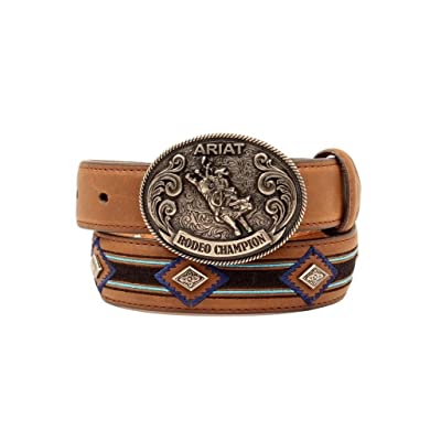 Ariat Boy's Black And Blue Accent Stripes Belt