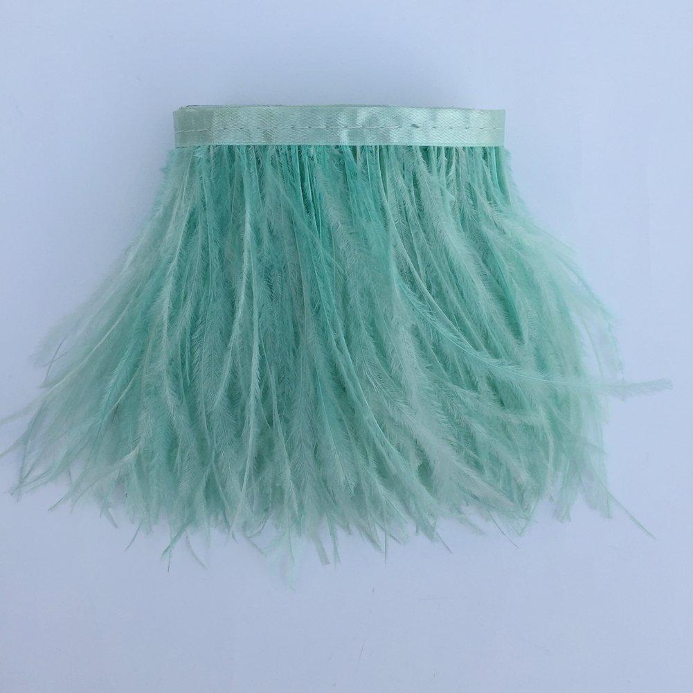 para decorar vestidos disfraces o manualidades de 10 a 15 cm Paquete de 1,8 metros de plumas de avestruz naturales tintadas Kolight