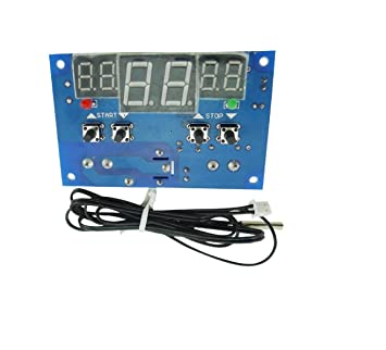 WINGONEER W1401 Termostato digital de 12 V Módulo Sensor de Control de Temperatura