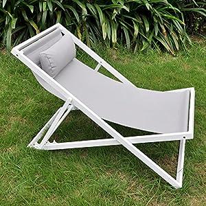 Amazon Com Beach Folding Chair With Headrest Outdoor