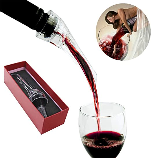 Wine Aerator Decanter Pourer Spout Mini Wine Hand-held Aerator Accessories Fits Any Standard Bottle