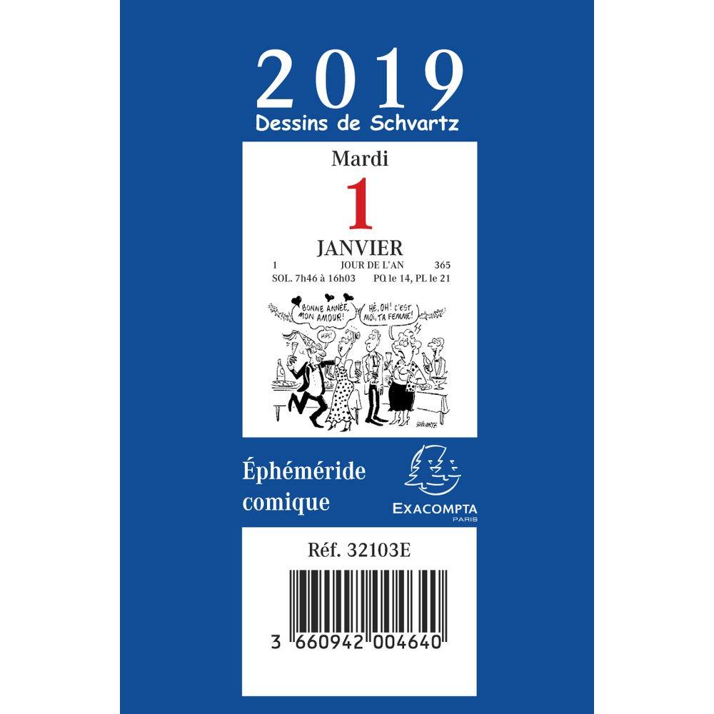 Exacompta 32103E Bloc Comique pour Ephéméride Année 2019