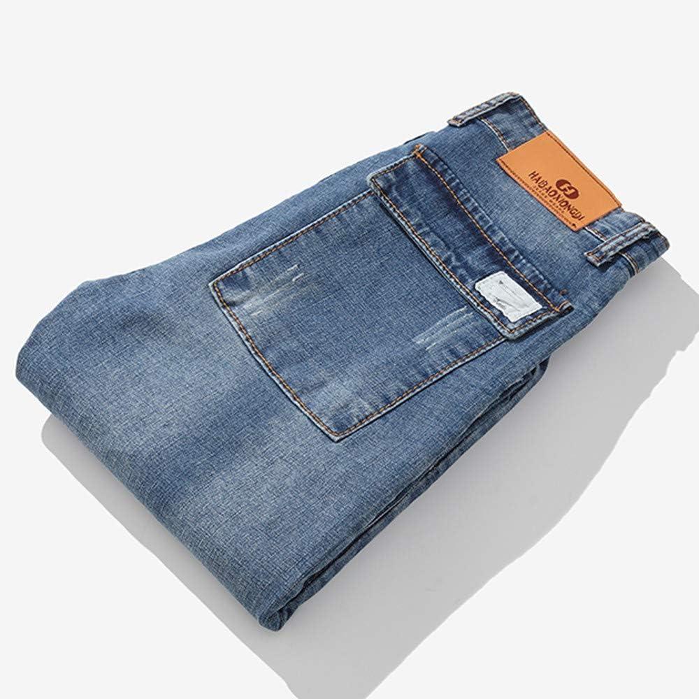 Pantaloni Chino a Gamba Dritta vestibilit/à Aderente Ode-Joy Uomo Autunno Informale Denim Cotton Vintage Lavare Il Lavoro Hip Hop I Pantaloni Jeans-Pantaloni Elasticizzati da Uomo