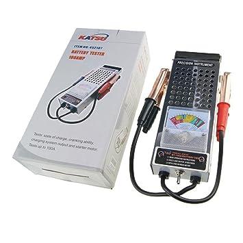 Cargador de batería de coche y comprobador de sistema de carga, de Katsu, 452107, 6 V y 12 V, 100 Amp