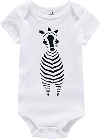 LET/'S FACE IT I/'M CUTE zebra Infant Baby one-piece Snapsuit Girl Boy Funny K17