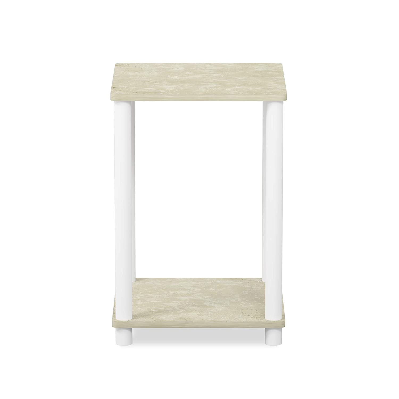 Furinno 99800GYW//BK End Table 1-Pack French Oak Grey//Black