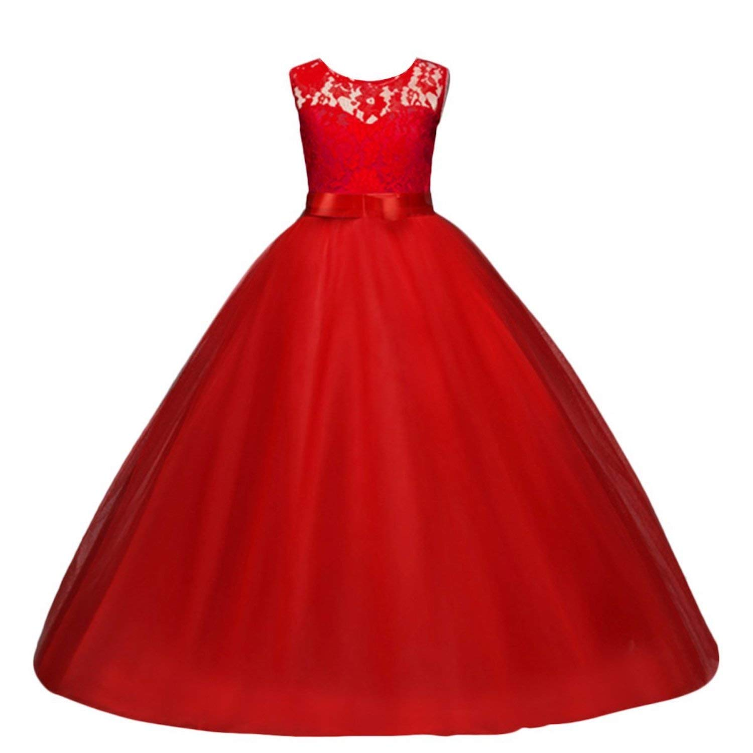 Live It Style It Girls Ball Gown Dress Wedding Princess Bridesmaid Party Prom Birthday for Kids 5-13 Years Old: Amazon.co.uk: Clothing