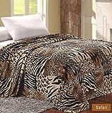 Sweet Home Collection Super Soft Polyester Microplush African Safari Animal Skin Print Blanket - King