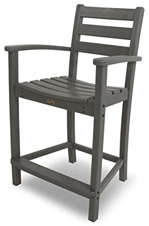 Trex Outdoor Furniture Monterey Bay Counter Arm Chair, Stepping Stone