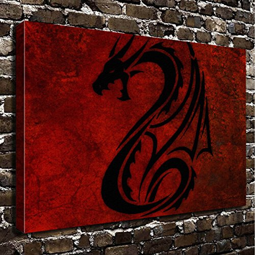 Wall Art Painting Dragon Prints  Canvas   Landscape