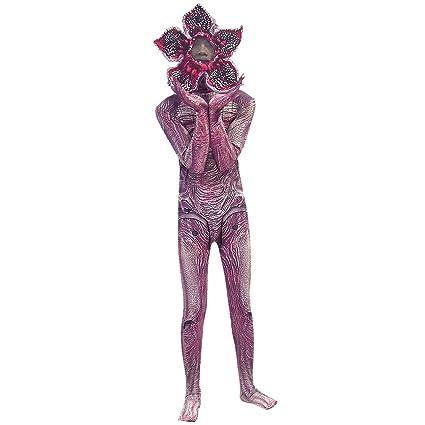 Stranger Things Disfraz Niños, Disfraz Stranger Things 3 Cosplay Demogorgon para Niña y Niño Disfraz Halloween Terror Máscara y Monos Ropa de ...