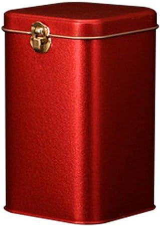Caja de almacenamiento de metal para té, café, dulces, lata, café, polvo, cajas de almacenamiento, D, talla única: Amazon.es: Hogar