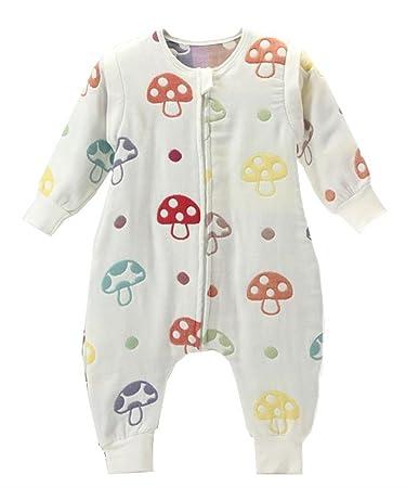 Chilsuessy Baby Sleep Bag With Feet Sack Early Walker Wearable Blanket Detachable Long Sleeves