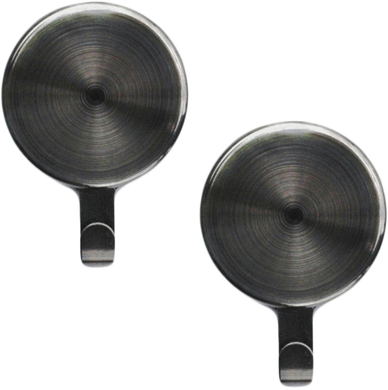 Attract(TM) Magnetic Wreath Hanger  2-Pack, Brushed Nickel