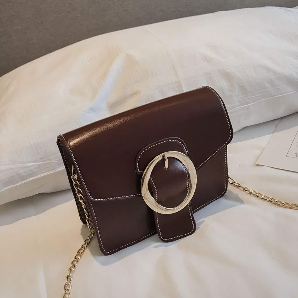 Copercn Women Cortical Simple Shoulder Bag Diagonal Cross Bag Small Square Crossbody Bag