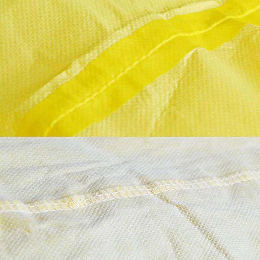 giallo acido antipolvere elettrostatico e cappuccio con alcali con tuta antispruzzo Indumenti protettivi chimici siamesi Color : 1PCS, Size : M