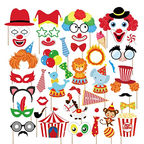 Kristin Paradise 44Pcs Circus Animals Photo Booth Props