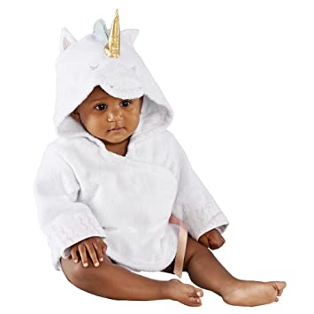 Amazon.com   Baby Aspen Simply Enchanted Unicorn Hooded Spa Robe ... 5825fe370