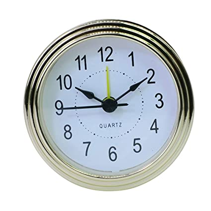 Healifty Mini Reloj de Cuarzo Movimiento Redondo Número Romano Relojes en Miniatura para Hotel con diámetro