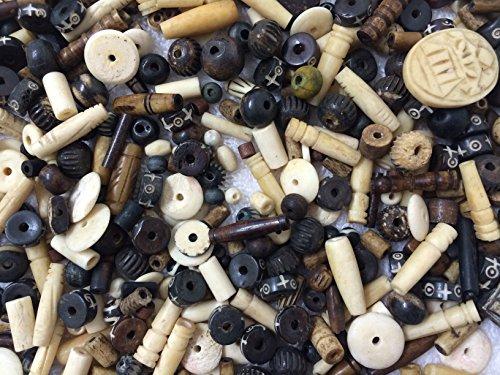 (PEPPERLONELY Brand 50 Gram Assorted Bone Beads 6-25mm)