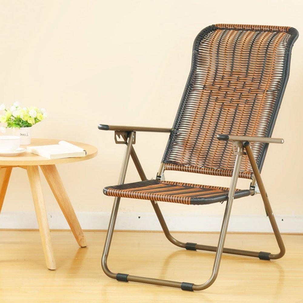 ZR- 折り畳み式の椅子リクライニングオフィスの昼寝午後の椅子怠惰な椅子古い椅子屋外の籐の椅子レジャービーチチェア(色はオプション) (色 : E) B07DJP3HJ7 E E