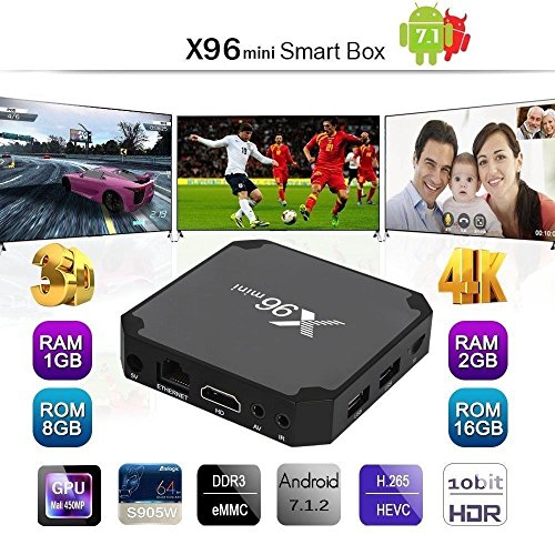 VANKER 1080P 4K US Type X96mini Amlogic Amlogic S905W Quad Core WiFi HDMI Black 4K2K Android 7.1.2 TV,1GB Memory + 8GB Flash from Vanker
