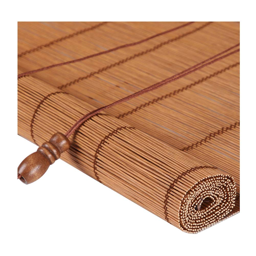 ZEMIN 日焼け止め 竹 ローラーブラインド ウッドブラインド 内部/外部インストール ナチュラル 防カビ カーテン カスタマイズ ハンドリフティング、 3色、 22サイズ (色 : #3, サイズ さいず : 150x160CM) 150x160CM #3 B07G37W8KB