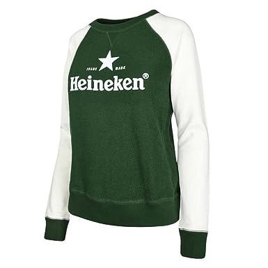 Heineken - Sweat à Capuche - Femme Grün und Weiß - - Small  Amazon ... 46d08c355dd6