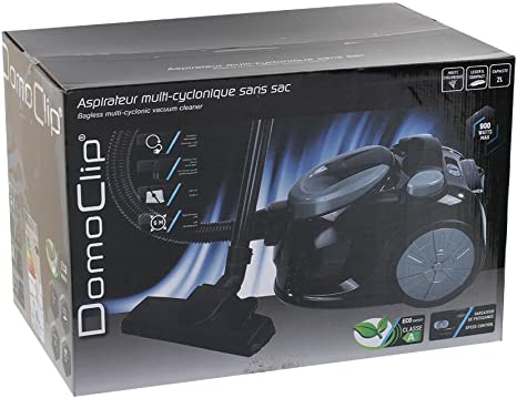 Domoclip DOH110G - Aspiradora (900 W, 27 kWh, 700 W, Aspiradora cilíndrica, Sin bolsa, 2 L): Amazon.es: Hogar
