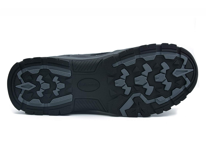 Zapatillas de Senderismo Impermeable Antideslizante Zapatos de Deporte Exterior Calzado de Alta Ca/ña Trekking Sneakers Knixmax-Botas de Monta/ña para Hombre Marr/ón, Gris,Azul