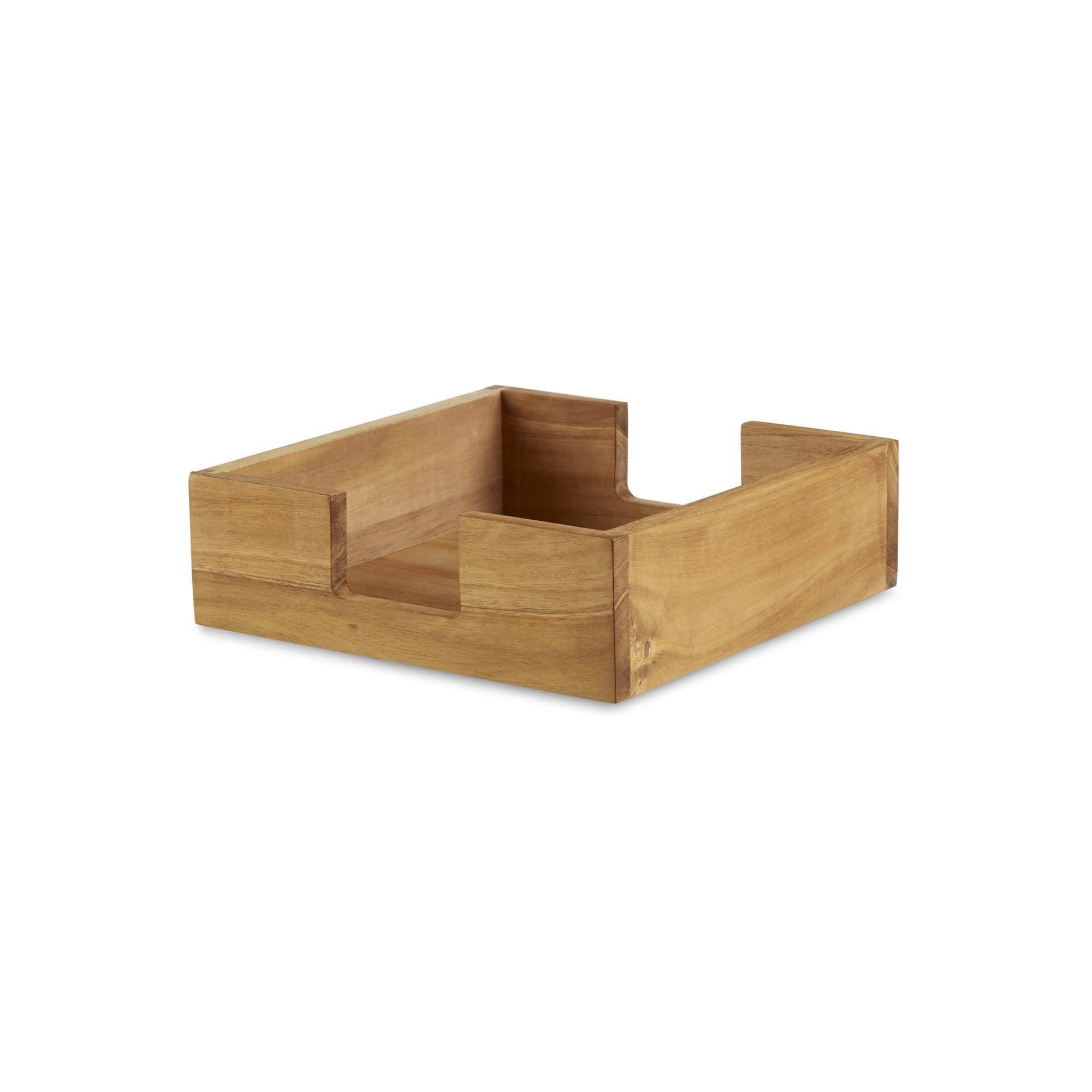 Design Ideas Takara Napkin Trough, Natural Teak Wood Napkin Holder for Table, Brown