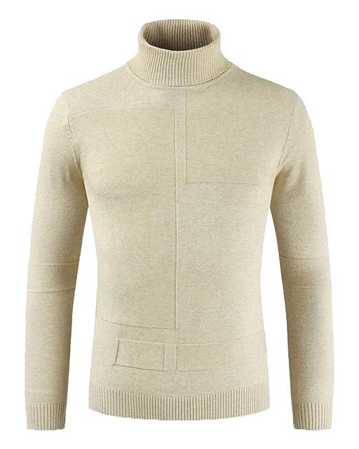 Liangzhu Jersey Cuello Alto Hombre, Sudaderas Hombre Sueter Manga Larga Camiseta Deporte Pullover Color Sólido Sweatshirt Jacket: Amazon.es: Ropa y ...