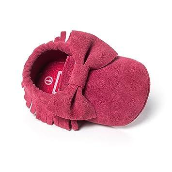 48fcfb1b935 Amazon.com : Itaar Baby Girl Crib Shoes Moccasins Tassel Bows Suede ...