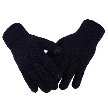 09abcc8e2e902e Kentop Winter Handschuhe Damen Warme Handschuhe Baumwolle Handschuhe Strick Handschuhe  Touch Gloves Smartphone Touchscreen Handschuhe (